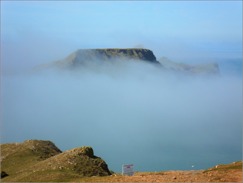 Worms Head in the Mist