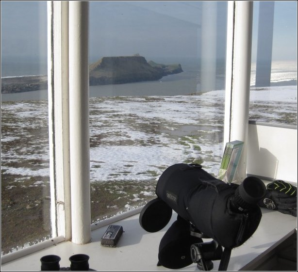 Worm's Head viewed from the lookout 29 January 2013